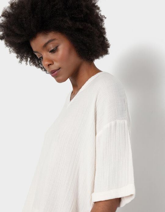 Oversized Textured Blouse, for Women