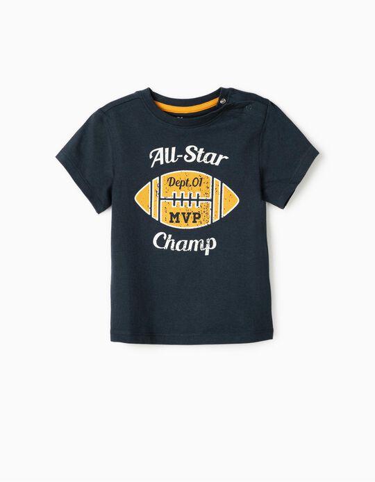 T-Shirt for Baby Boys 'All Star Champ', Dark Blue