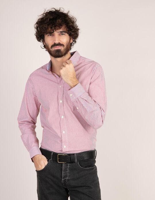 Camisa regular fit em popelina
