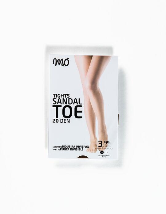 Collants 20 Den Sandal Toe