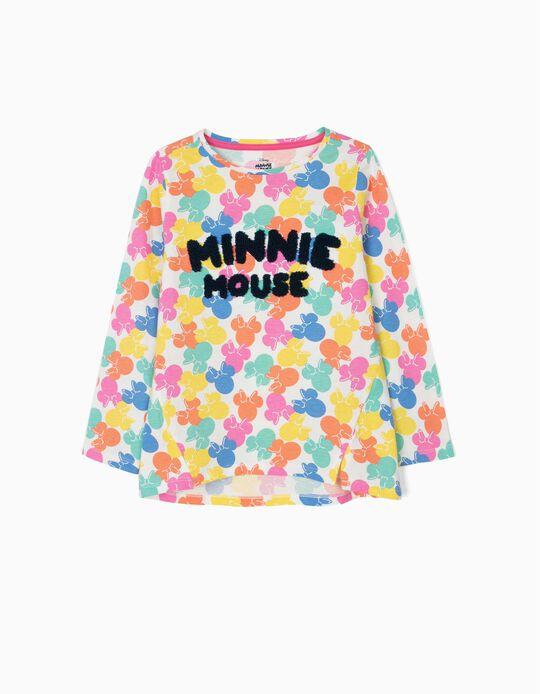 T-shirt de Manga Comprida para Menina 'Minnie Mouse', Multicolor
