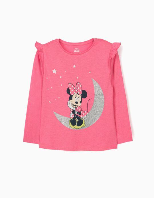 T-shirt Manga Comprida para Menina 'Minnie Moon', Rosa
