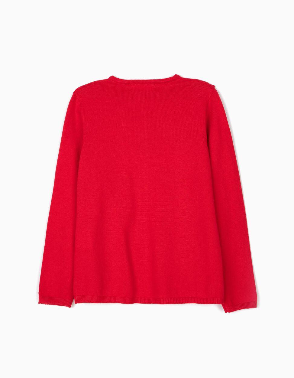 Casaco de Malha Vermelho