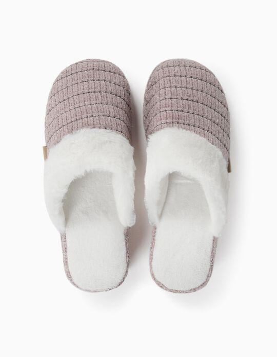 Chenille bedroom slippers