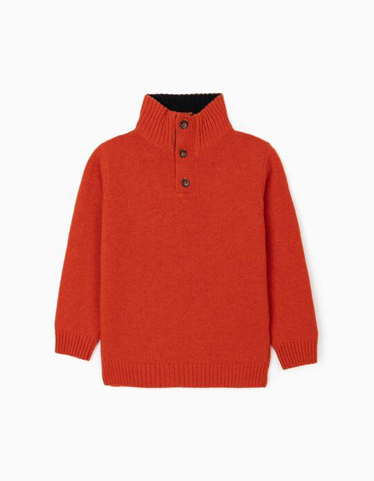Wool Jumper for Boys, Orange