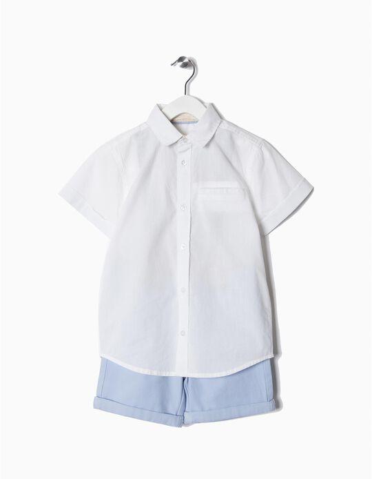Conjunto camisa e calções