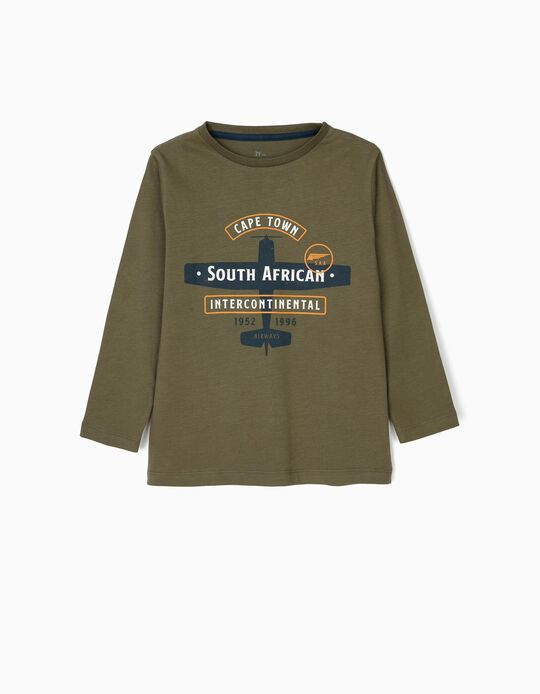 Long-sleeve Top for Boys 'Cape Town', Green