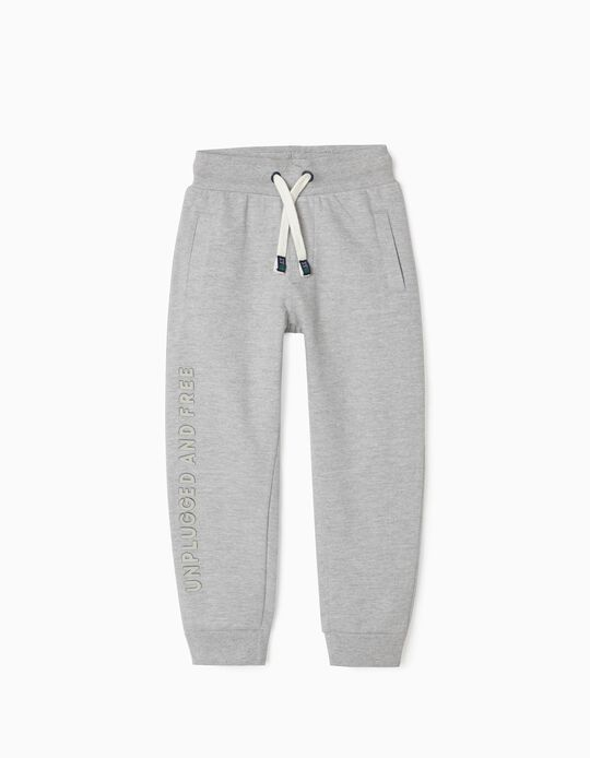 Joggers for Boys 'Unplugged & Free', Grey