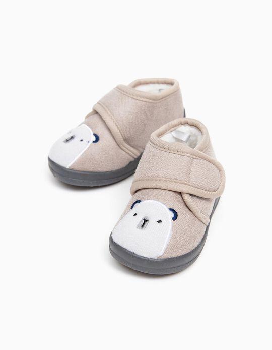 Pantufas para Bebé Menino 'Bear', Cinza