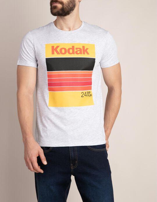 T-shirt mescla com estampado KODAK