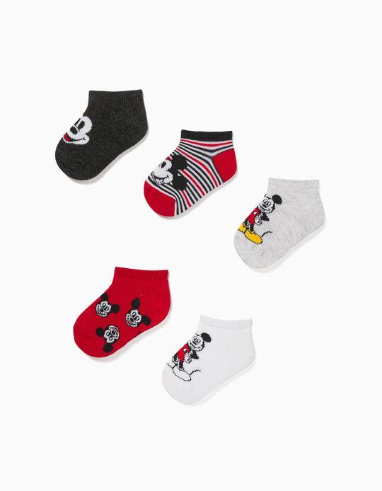 5 Meias Curtas do Mickey, Bebé Menino, Multicolor