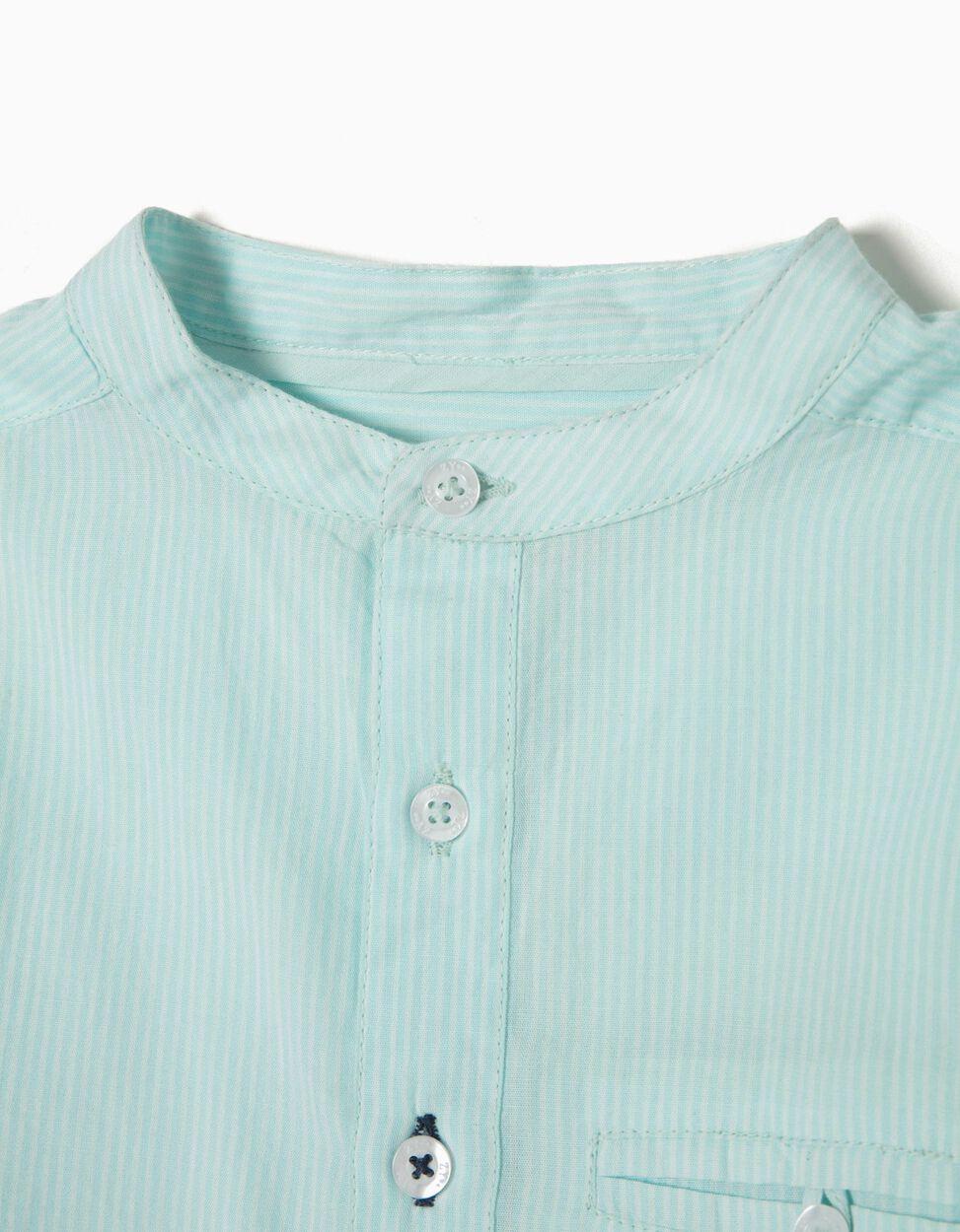 Camisa Riscas Verdes B&S