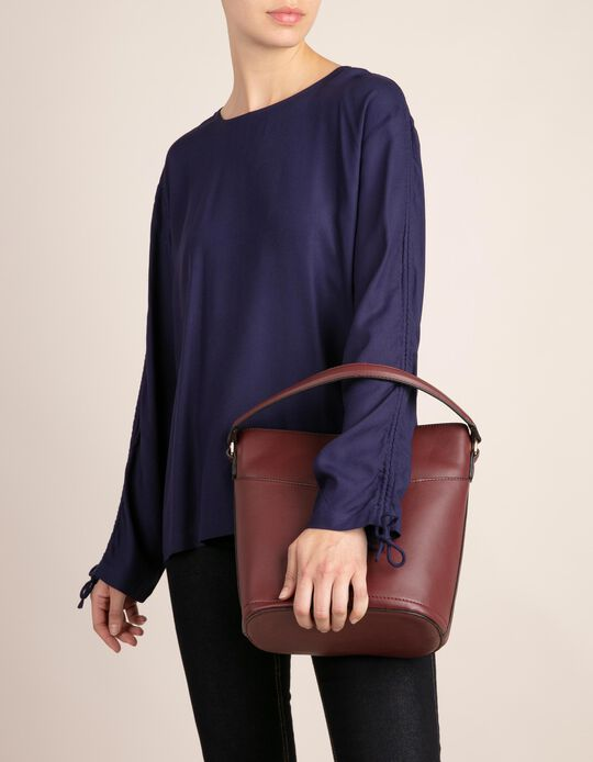 Plain Blouse with Adjustable Sleeve