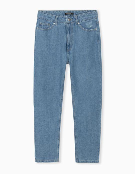 Mum Fit Jeans, Women, Light Blue