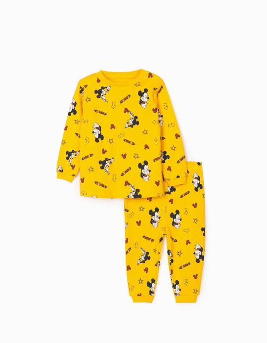 Pijama para Bebé Menino 'Mickey Artist', Amarelo