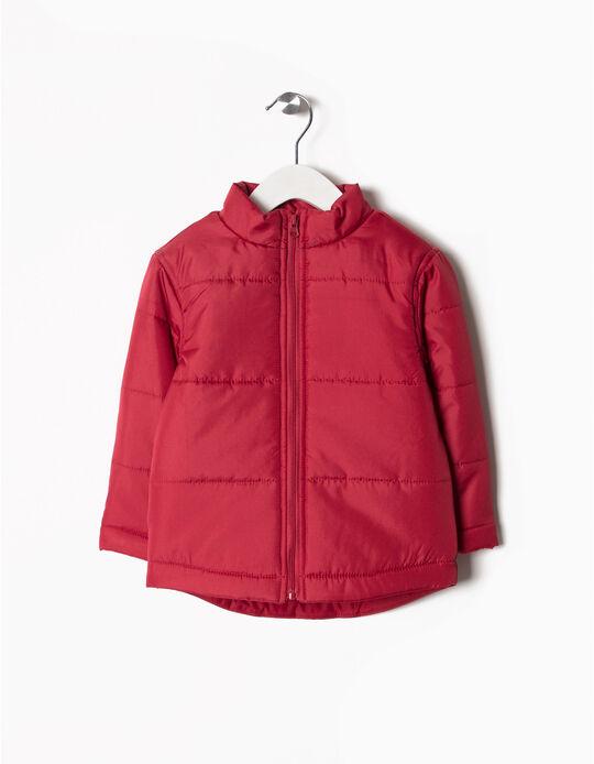 Blusão acolchoado vermelho