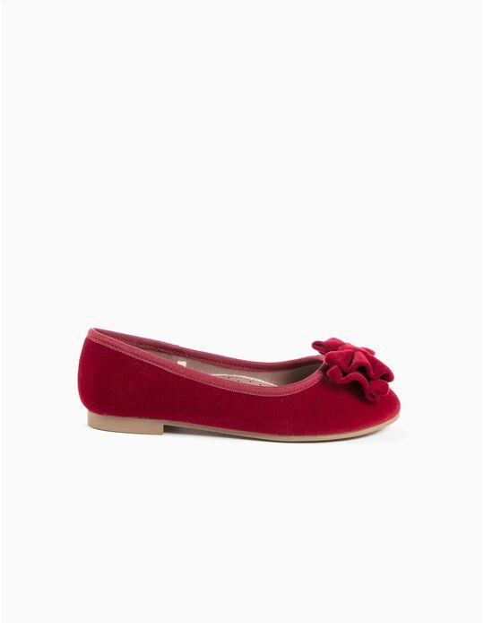 Sabrinas veludo e laço vermelhas