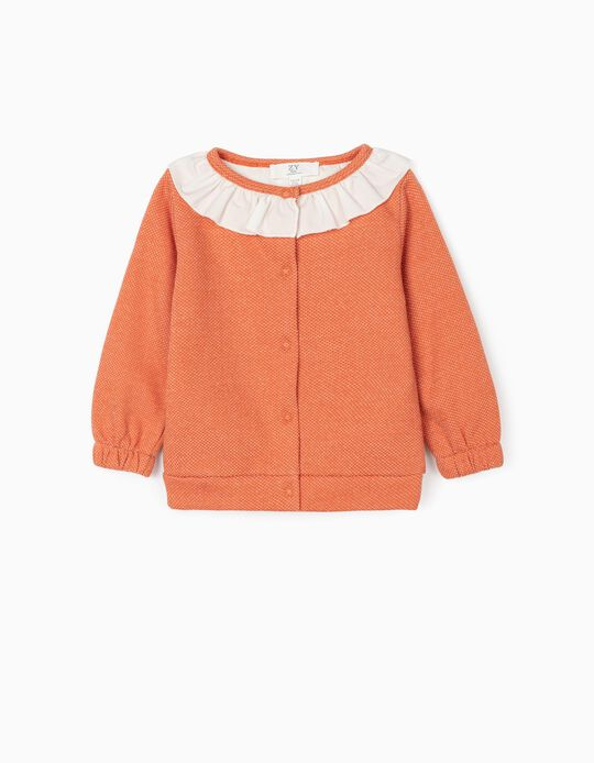 Cardigan for Baby Girls, Orange
