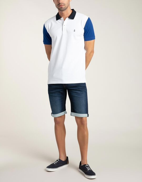 Polo Shirt with Contrast