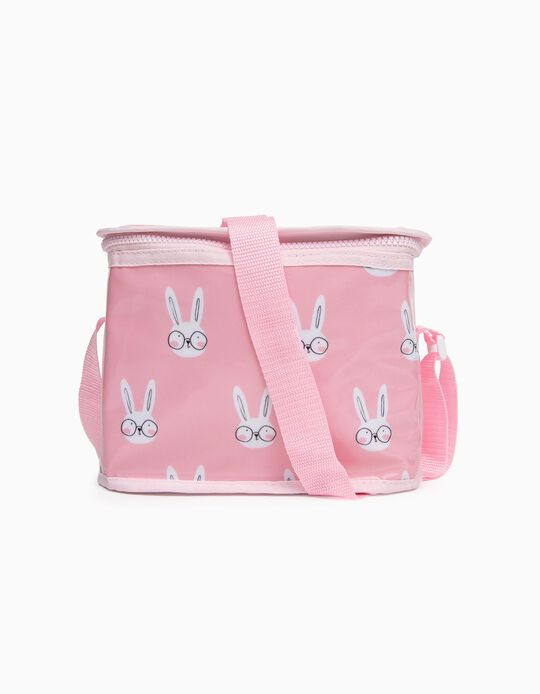 Thermal Lunch Bag for Girls 'Bunny', Pink