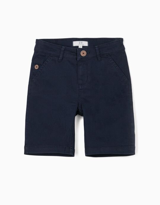 Chino Shorts for Boys, Dark Blue