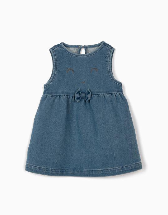 Vestido para Recém-Nascida 'Comfort Denim', Azul