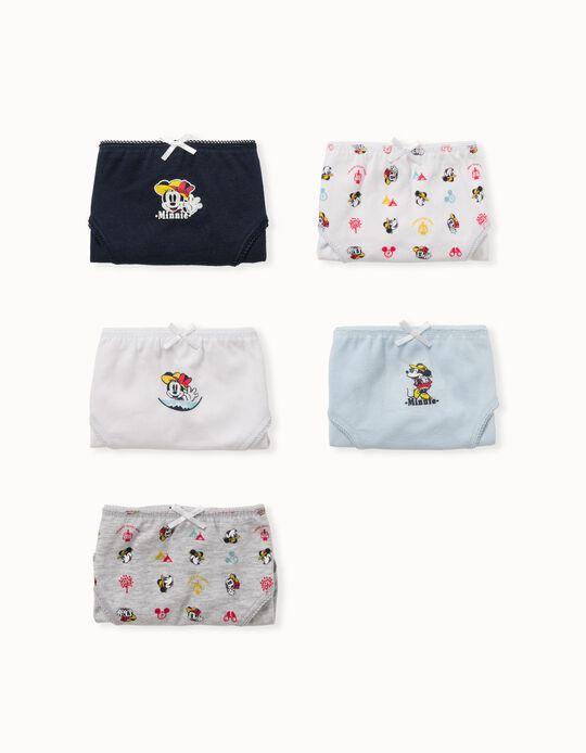 5 Briefs for Girls 'Penguin', Multicoloured