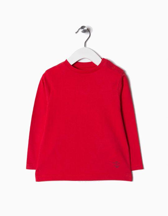 T-shirt Manga Comprida Básica Vermelho