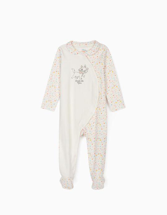 Sleepsuit for Baby Girls, 'Marie', White