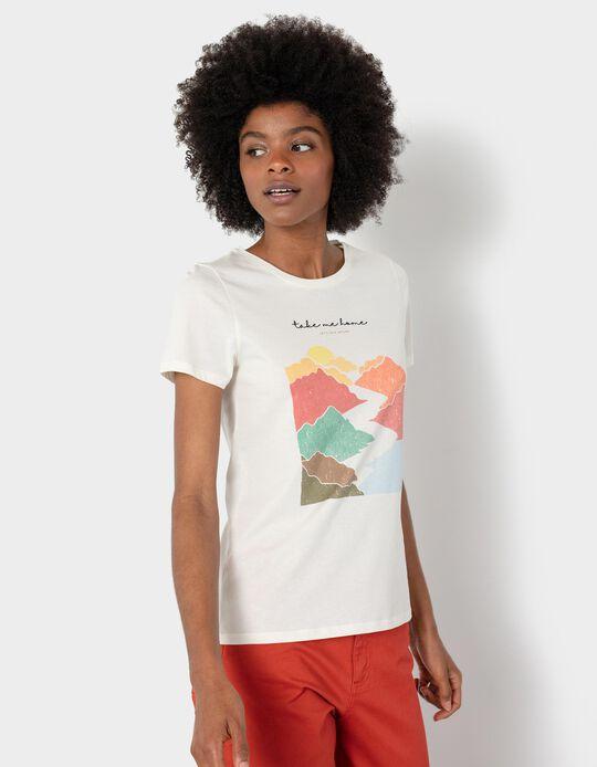 T-shirt com Estampado, Algodão Orgânico