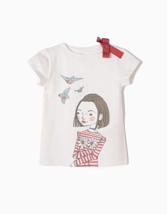 T-shirt Love Birds Branca
