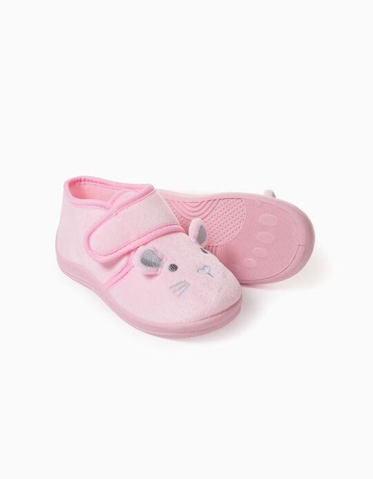 Slippers for Girls, 'Bunny', Pink