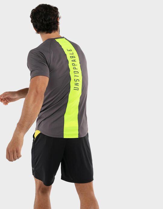 T-shirt estampado nas costas
