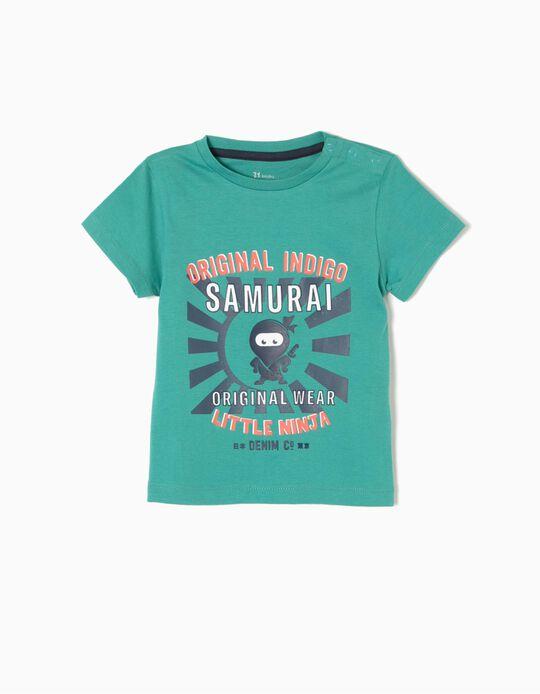 T-shirt Little Ninja Verde