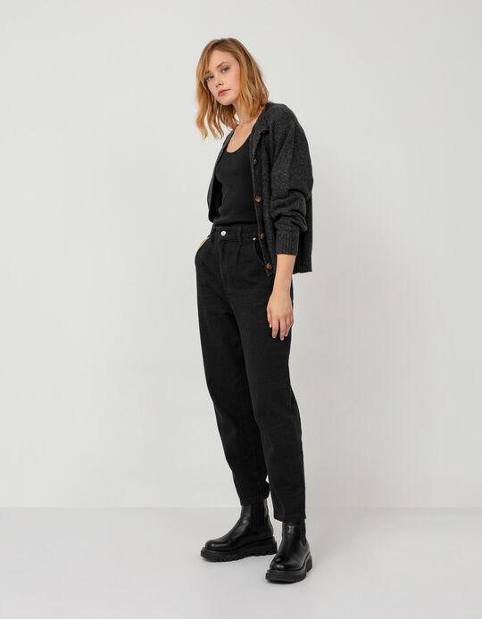 Mum Fit Jeans, Women, Black