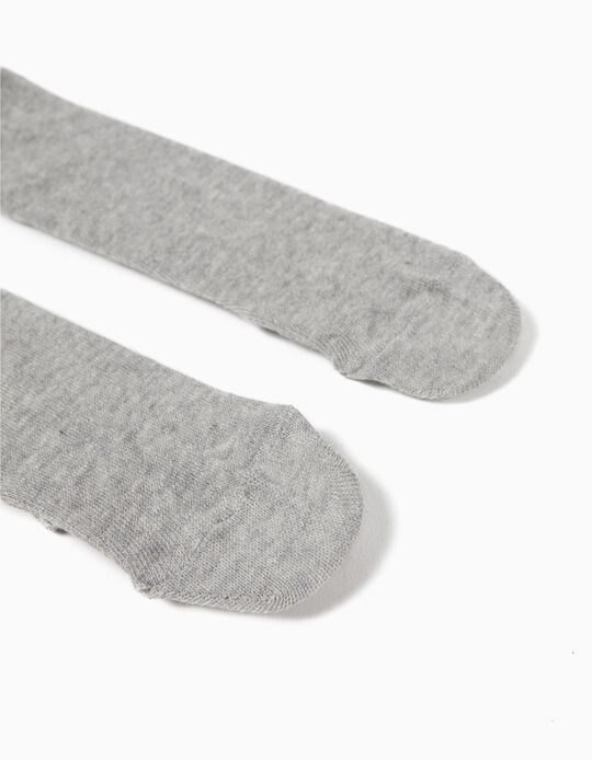 Knit Tights for Baby, Grey