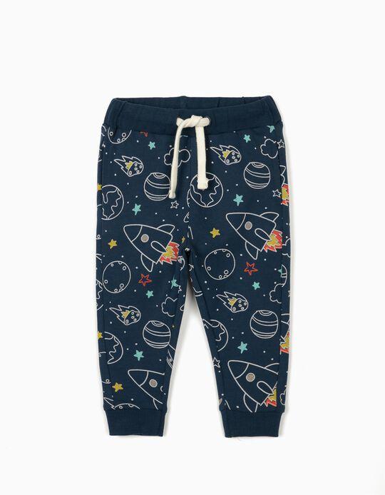 Calças de Treino para Bebé Menino 'Space Boy', Azul