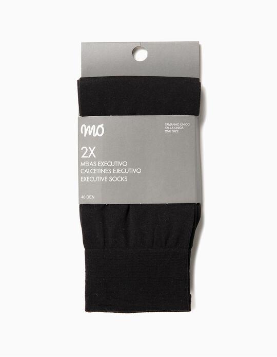 2 Pairs of Socks, Men, Black