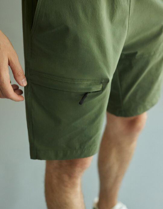 Techno Shorts, Men, Green