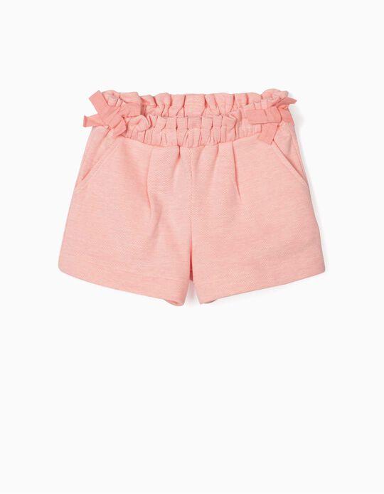 Jacquard Shorts for Girls, Pink