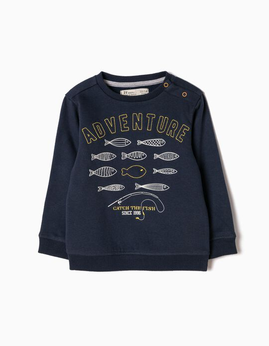 Sweatshirt Catch the Fish Azul