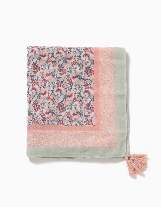 Floral Scarf with Hassles