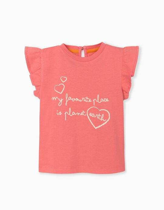 T-shirt in Organic Cotton, Baby Girls