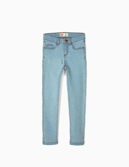 Skinny Jeans for Girls, Light Blue