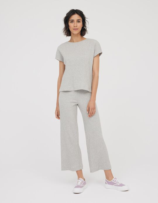 Rib Knit Culottes, Made in Portugal