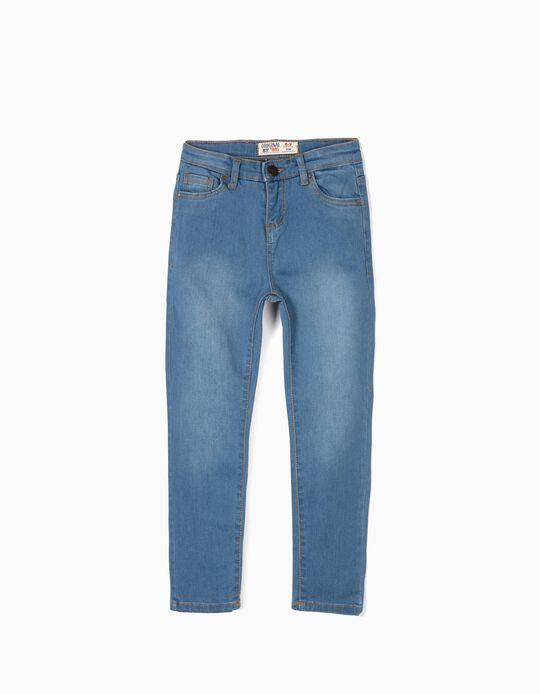Calças de Ganga para Menina 'ZY Original Slim', Azul Claro