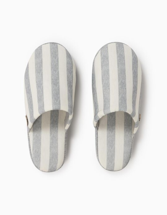 Striped Bedroom Slippers, Women