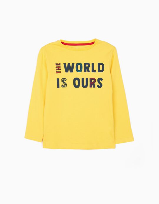 Long-sleeve Top for Boys 'Break Rules', Yellow