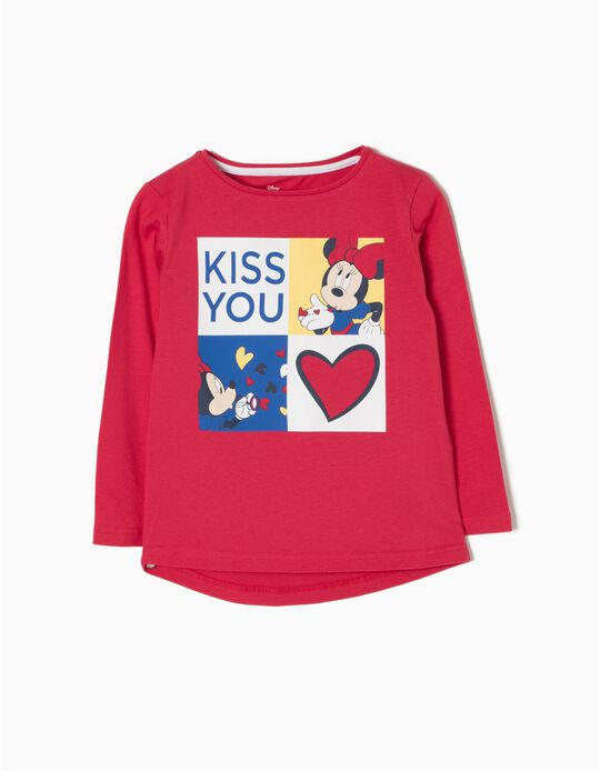 T-Shirt Manga Comprida Kiss You Minnie