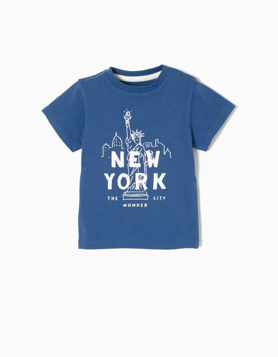 T-shirt New York Azul